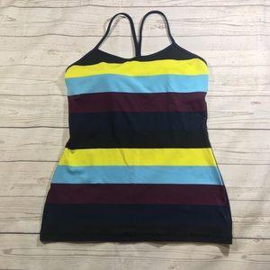 Lululemon striped power Y top